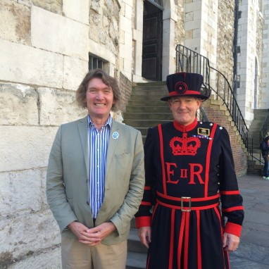 Tim and beefeater